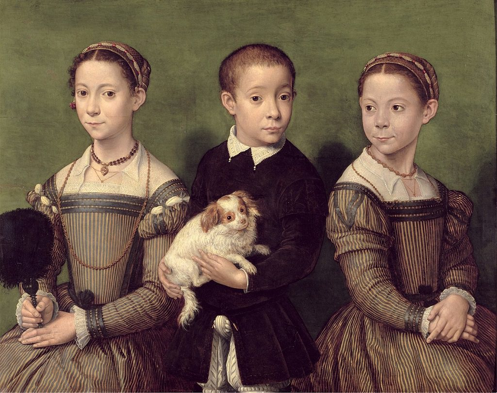 Sofonisba Anguissola, Tre bambini con cane