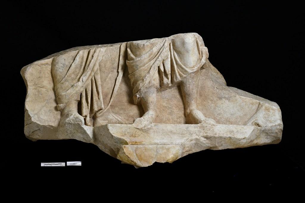 Fregio storico scavo via Alessandrina Fori Imperiali
