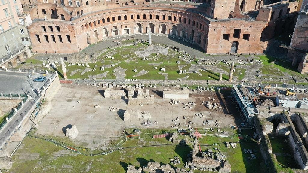 Via Alessandrina Fine scavo Fori Imperiali