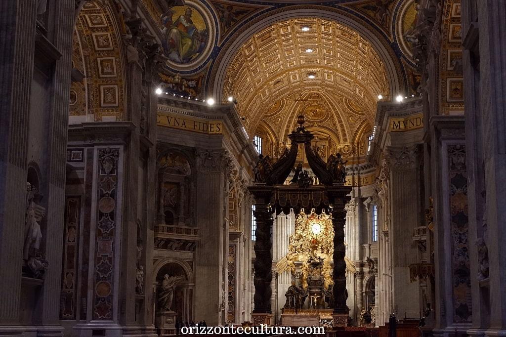 Il Baldacchino del Bernini, Basilica di San Pietro