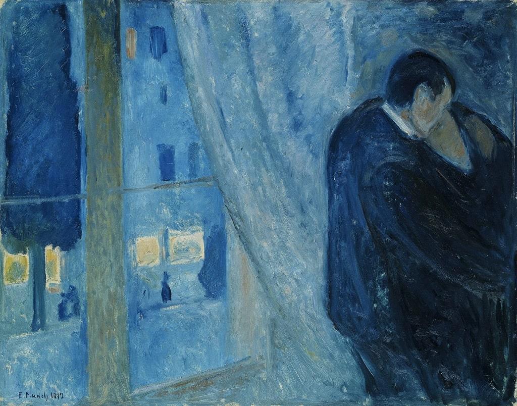 Edvard Munch, Il bacio con la finestra, amore nell'arte