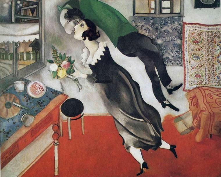 Marc Chagall, Compleanno, 10 baci famosi arte