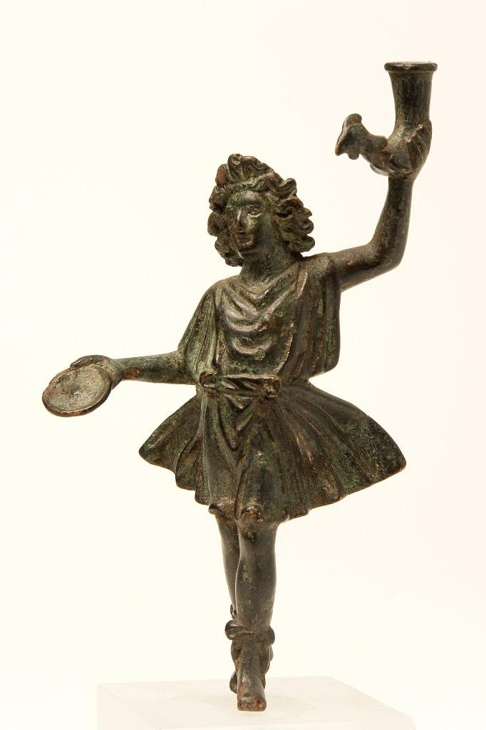 Statuetta in bronzo di Lare, pompei 79 mostra colosseo