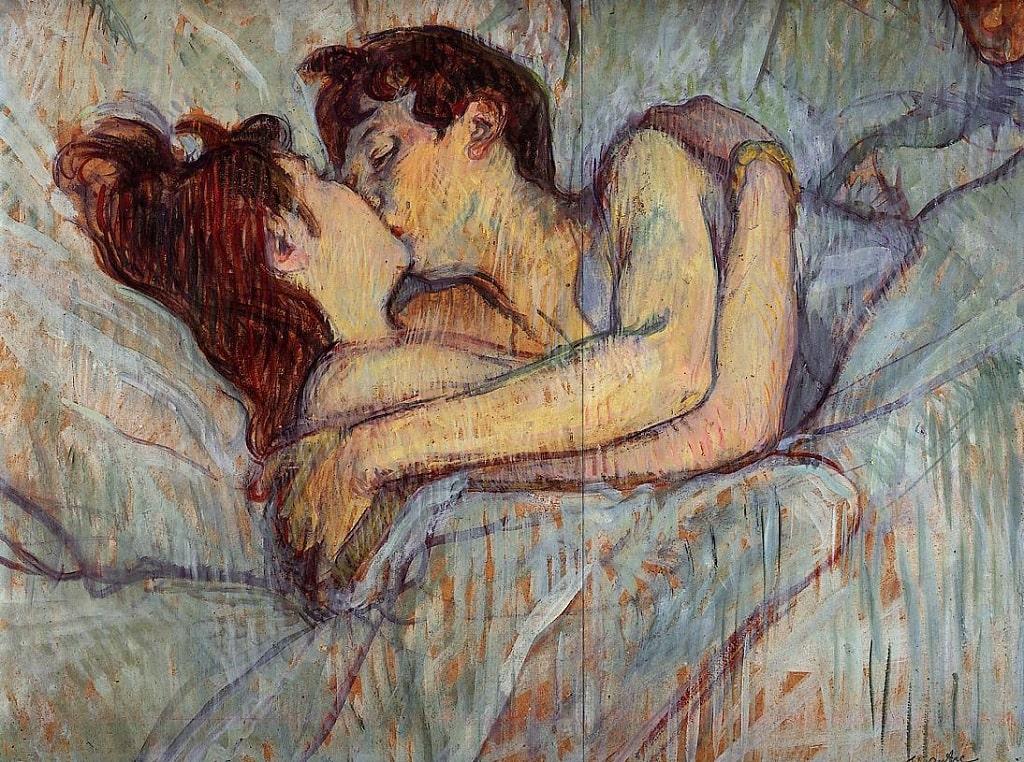 Toulouse Lautrec, A letto, baci famosi arte