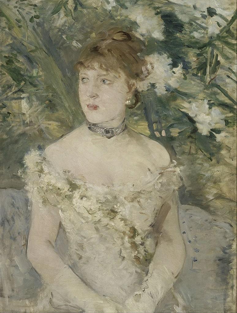 Berthe Morisot, Giovane donna in tenuta da ballo, donna arte Berthe Morisot