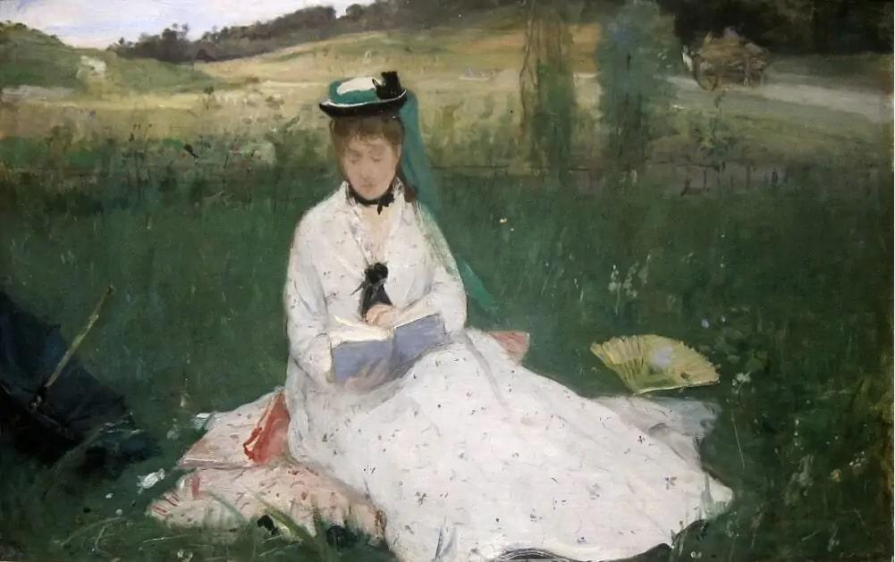 Berthe Morisot, La lettura, donna arte Berthe Morisot
