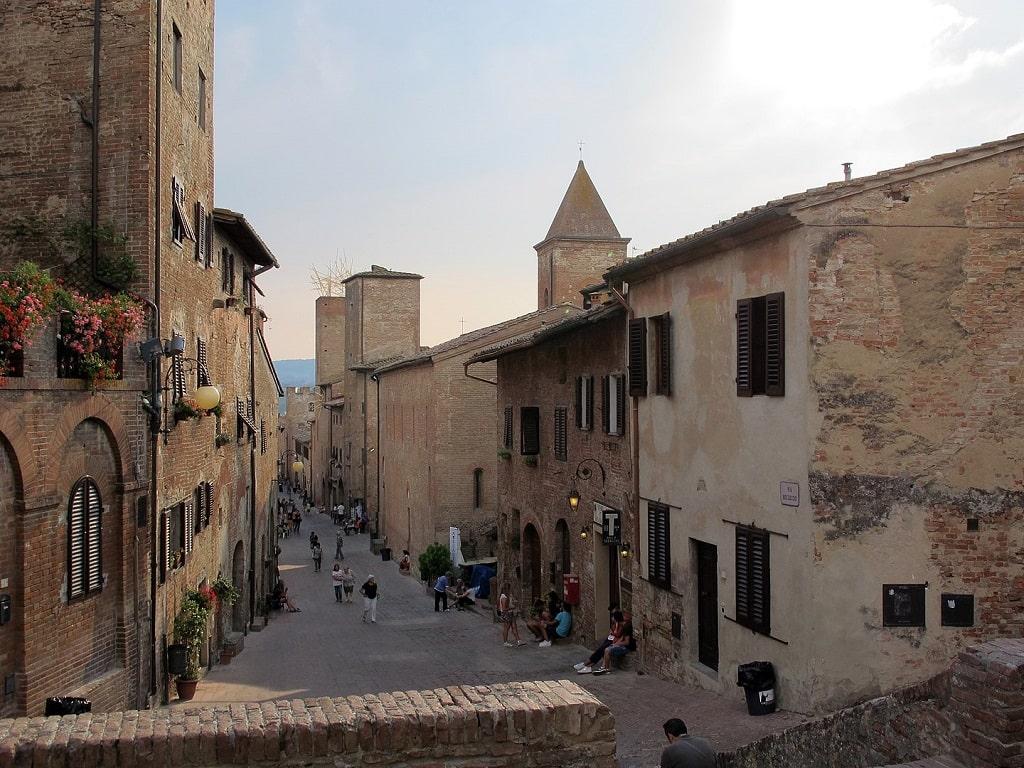 Certaldo alta via Boccaccio, borghi toscana