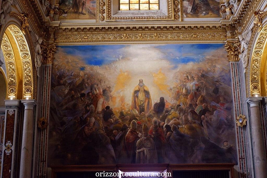 Pietro Annigoni, Gloria di San Benedetto, Abbazia benedettina di Montecssino