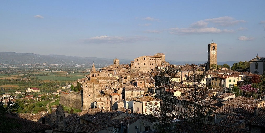 Veduta di Anghiari, borghi più belli visitare Toscana