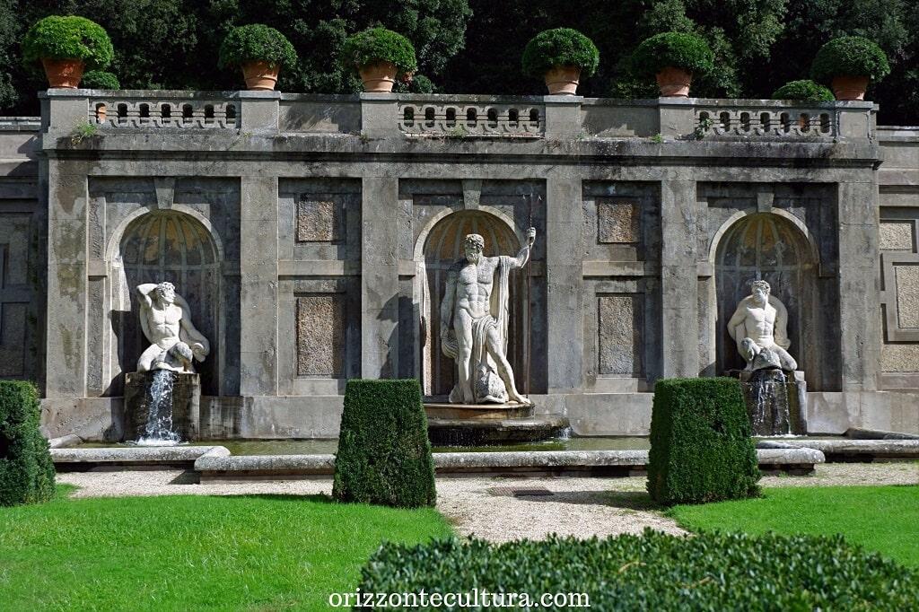 Dettaglio dai giardini delle Residenze Pontificie, visita alle Ville Pontificie di Castel Gandolfo