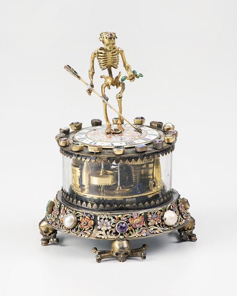 Christian Giessenbeck, Orologio con scheletro, Tempo Barocco mostra Palazzo Barberini