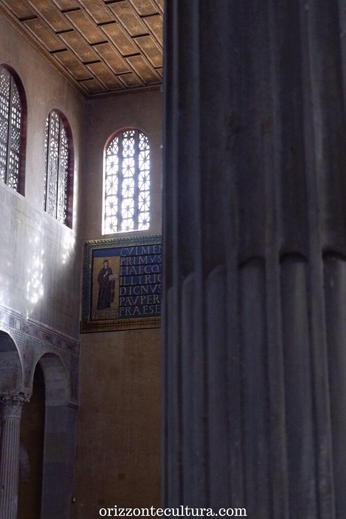 Decorazione a mosaico sopra il portale della Basilica di Santa Sabina, Aventino