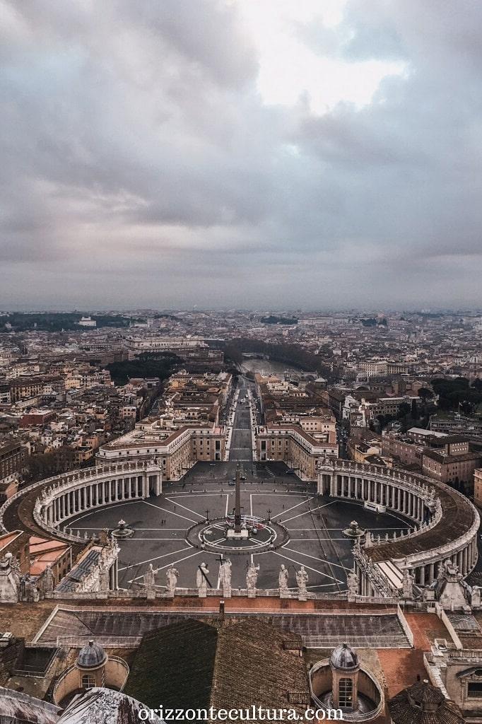 Piazza San Pietro vista dal Cupolone, come visitare Roma in 24 ore