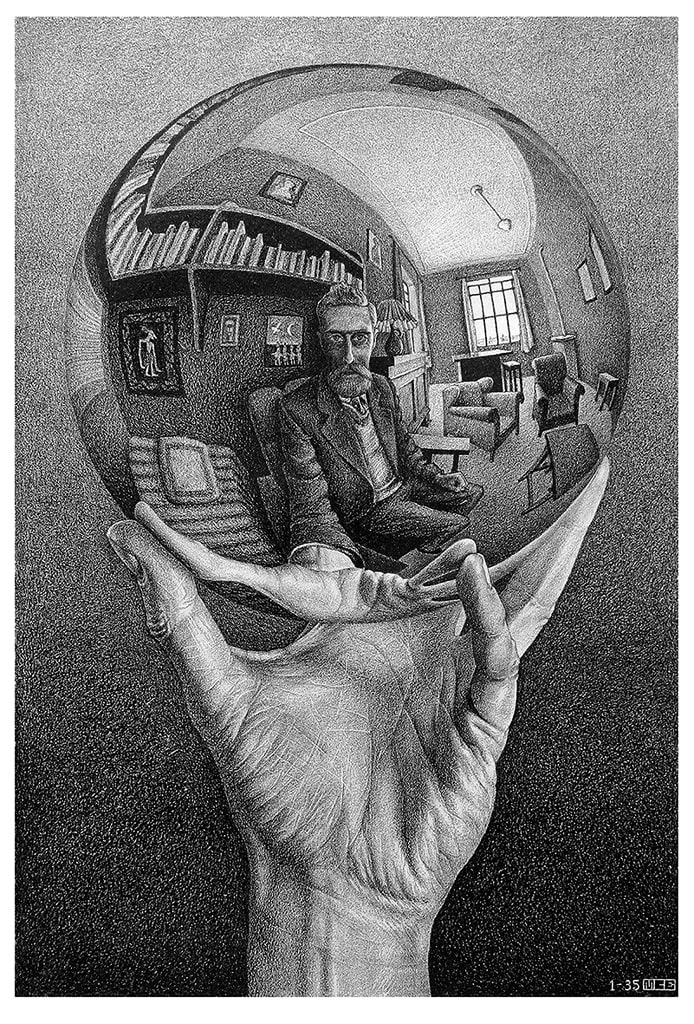 Maurits Cornelis Escher, Mano con sfera riflettente, mostre autunno 2021