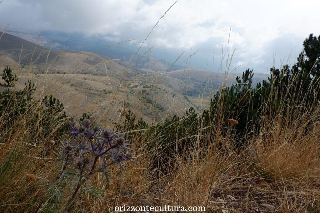 Il panorama sulla vallata da Rocca Calascio, come arrivare al castello di Rocca Calascio
