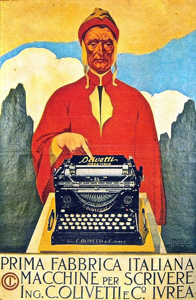 Teodoro Wolf Ferrari, Affiche olivetti M1