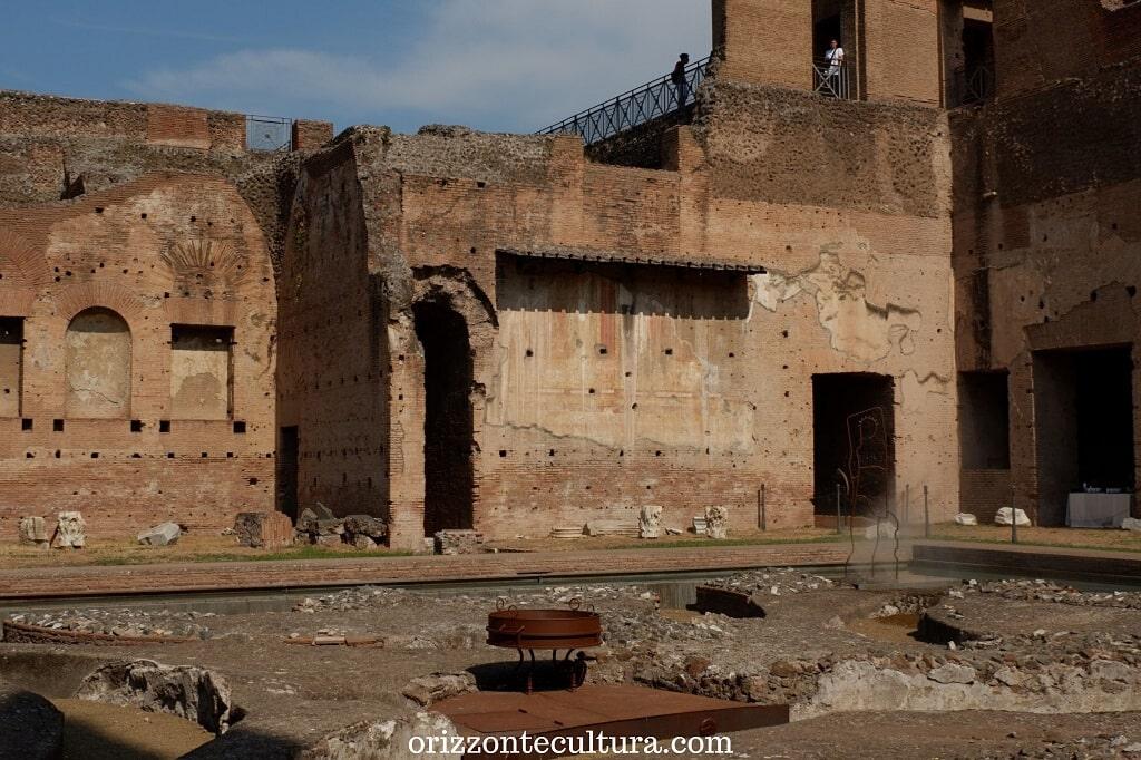 Uno scorcio della Fontana delle Pelte presso la Domus Augustana