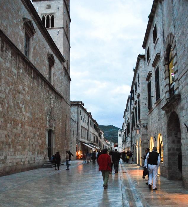 Placa (Stradun), la via principale di Dubrovnik vecchia