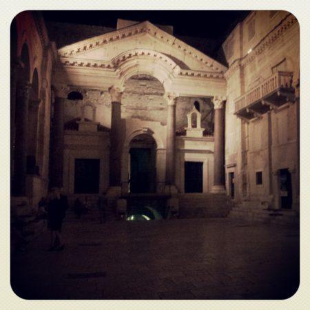 Il peristilio del palazzo di Dicoleziano, Spalato