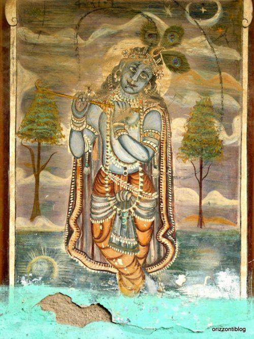Shekhawati: affresco di Krishna su di una haveli