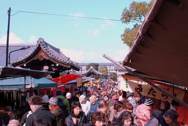 Mercato Kobo san: la folla al Toji