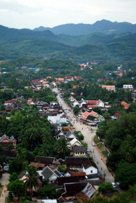 Luang Prabang dall'alto