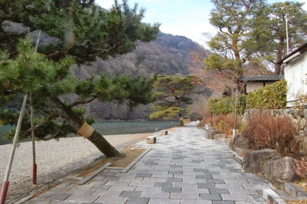 Kyoto: Arashiyama, il parco lungo il fiume