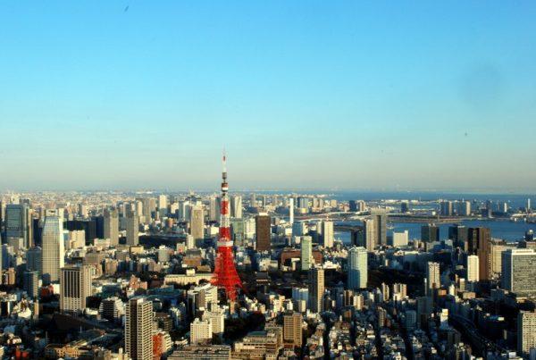 Tokyo tower vista dalla Mori tower