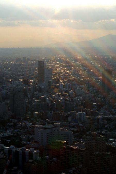 Tokyo vista dalla Mori tower, al tramonto