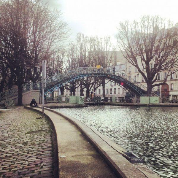 Il canale Saint Martin, a Parigi