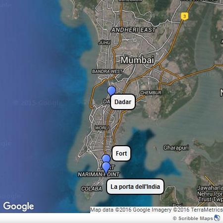 La mappa di Mumbai