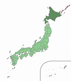 Cartina dell'Hokkaido