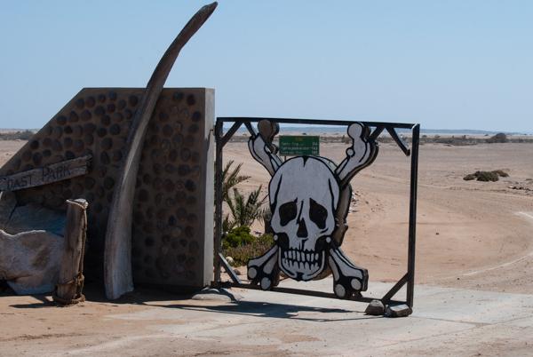 L'ingresso dello Skeleton Coast Park a Ugabmund