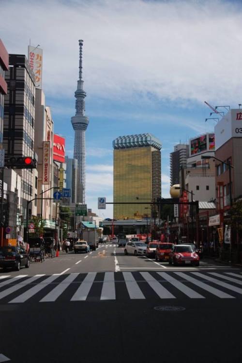 Lo Skytree visto da Asakusa