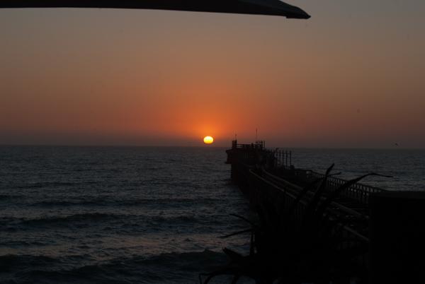 Il tramonto sull'Atlantico