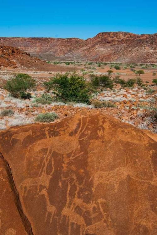 Antiche incisioni rupestri a Twyfelfontein