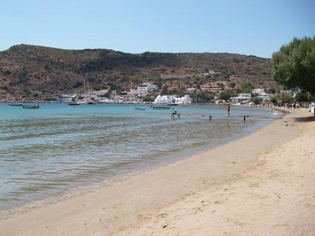 La spiaggia di Vathi