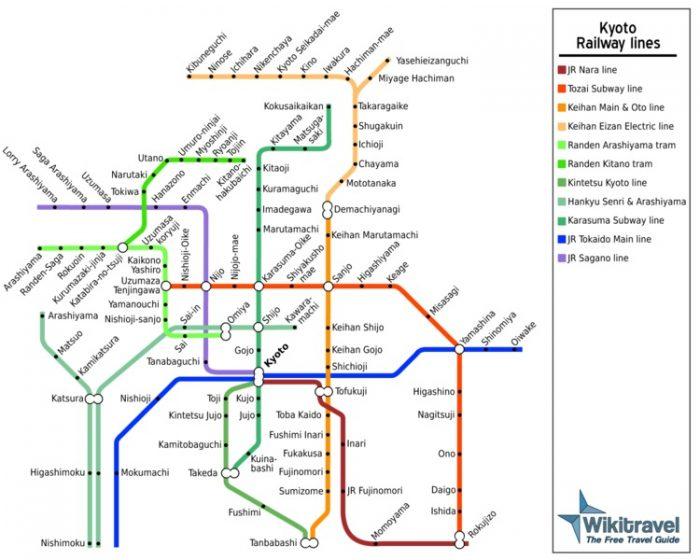 La rete ferroviaria di Kyoto