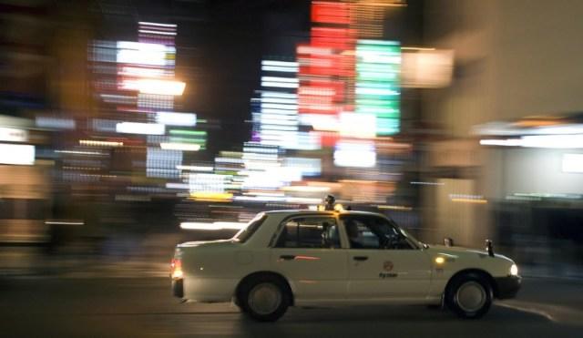 Un taxi di Kyoto, a Gion (
