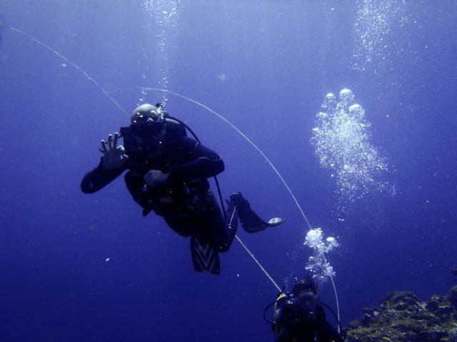 Io durante un'immersione