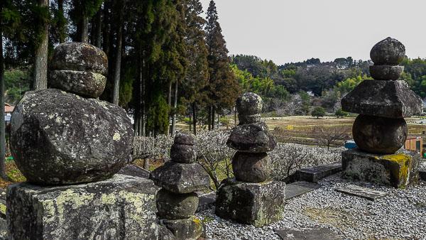 Uno scorcio dal sito dei Buddha di pietra di Usuki