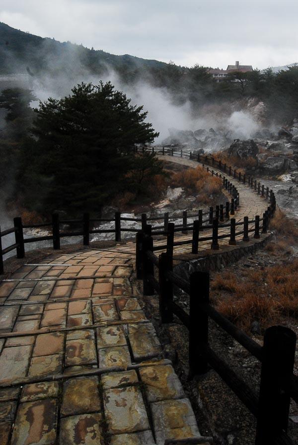 L'inferno di Unzen, penisola di Shimabara