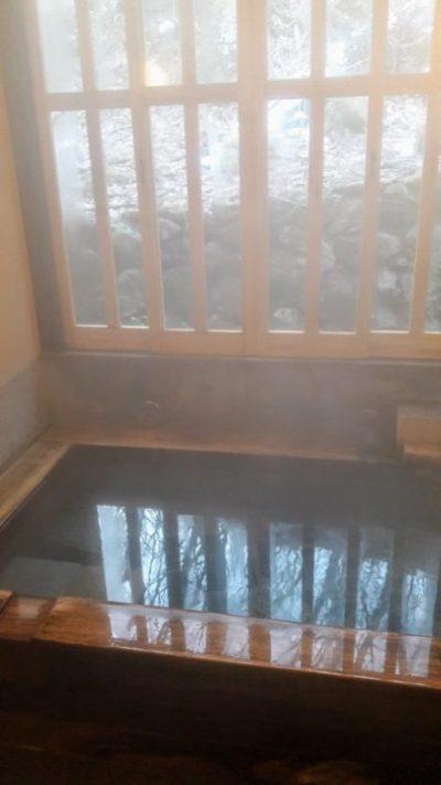 Kannojigoku ryokan, onsen privato