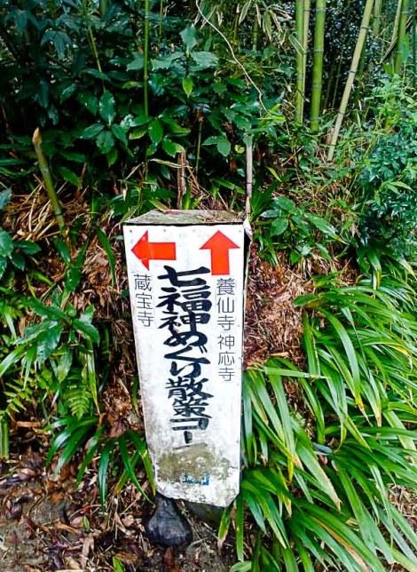 Le indicazioni per il sentiero
