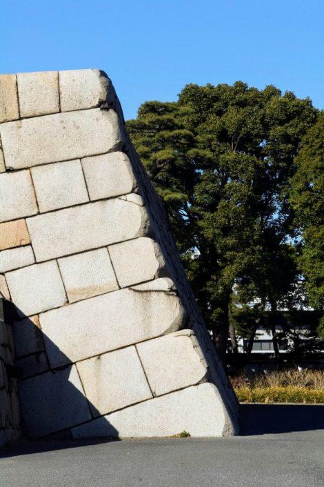 La base del castello di Edo