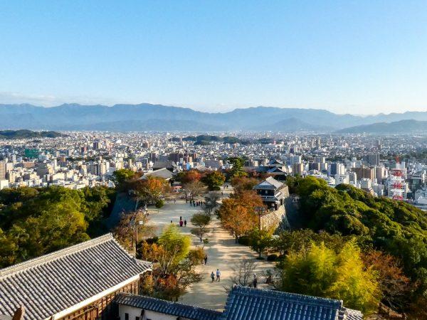 Vista dal castello di Matsuyama
