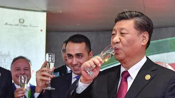 Xi Jingpin e Di Maio in Cina, durante l'incontro italo-franco-cinese