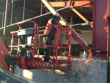 Technip Norge AS - Incoming shed - Forberedelser for innsetting av ny port