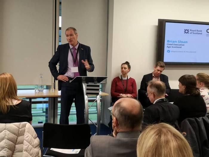 brian sloan age scotland chief executive talks to group at cta scotland conference