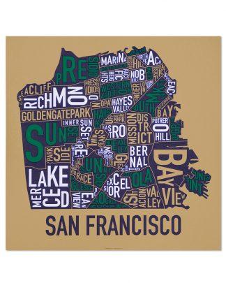 san francisco neighborhood map indie